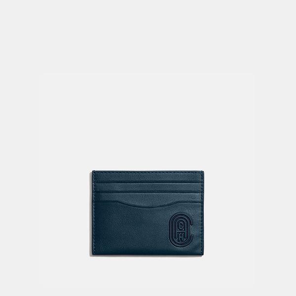 Porta-Cartão Flat Coach Azul