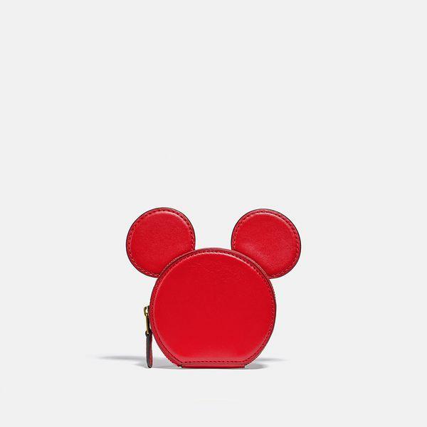 Porta-Moedas Orelhas Disney Mickey Mouse x Keith Haring x Coach Vermelho