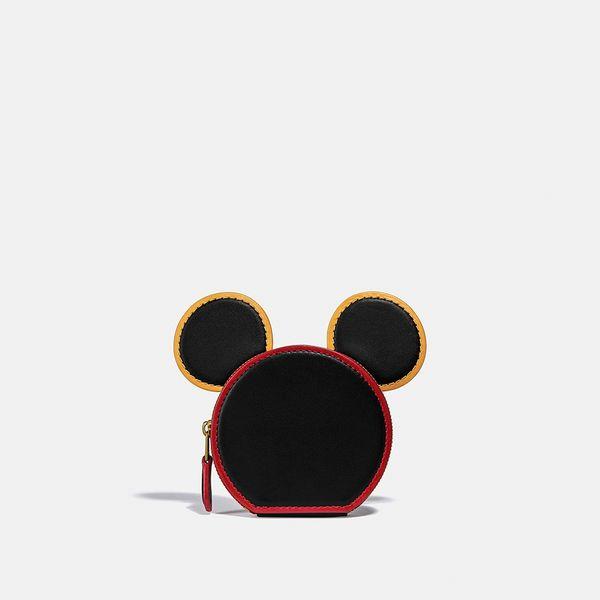 Porta-Moedas Orelhas Disney Mickey Mouse x Keith Haring x Coach Preto