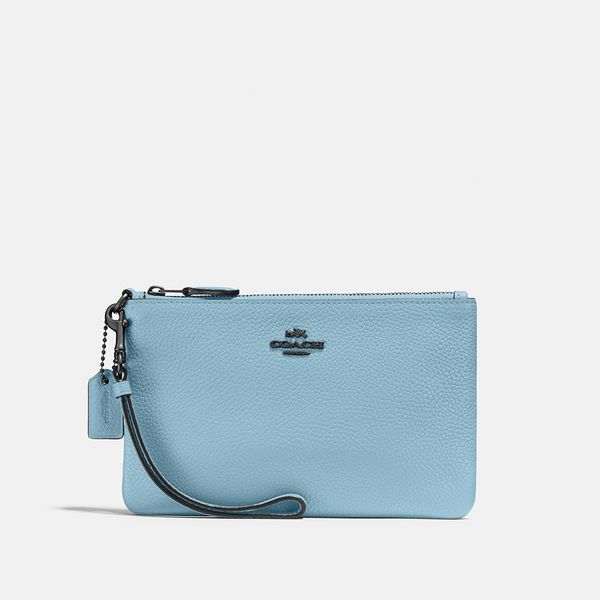 Bolsa De Mão Wristlet Coach Azul