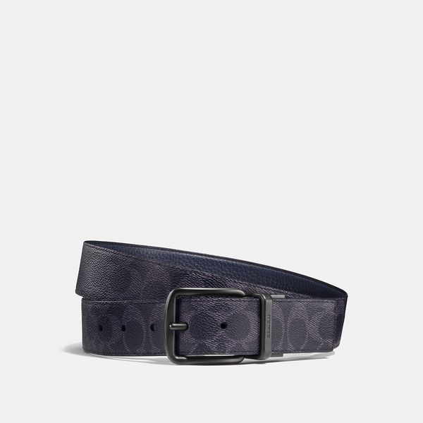 Cinto Harness Signature 38mm Coach Azul Marinho