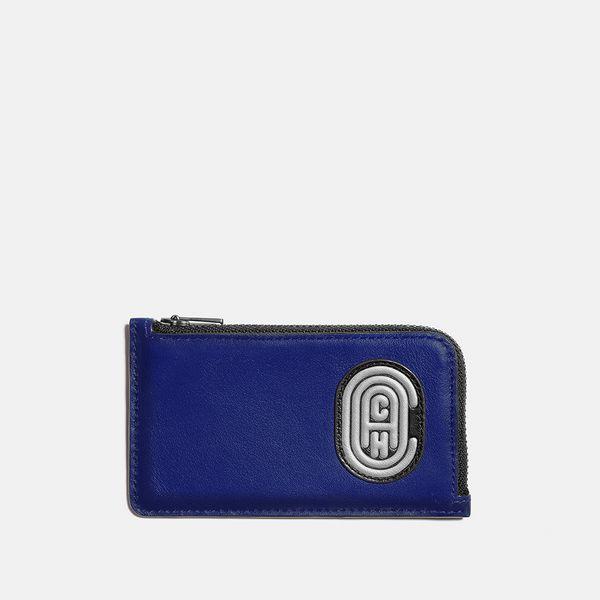 Porta-Cartão Zip Card Case Coach Azul