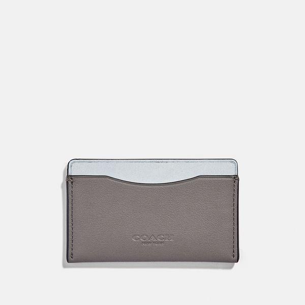 Porta-Cartão Small Card Case Coach Cinza