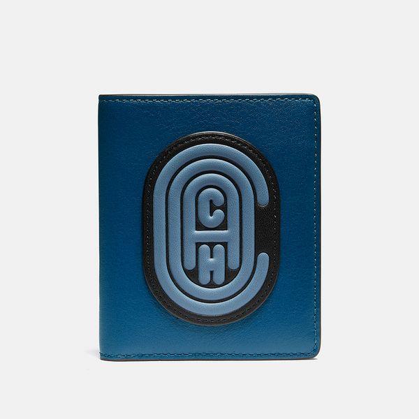 Carteira Slim Wallet Coach Azul