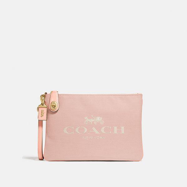 Bolsa de Mão Pouch 26 Coach Nude