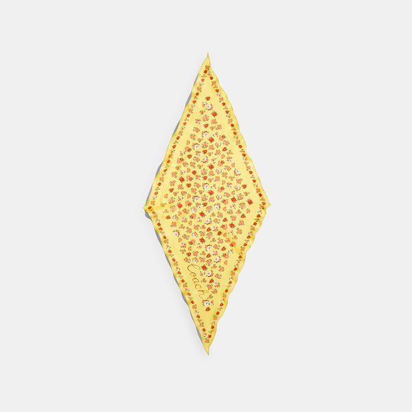 Lenço Floral Diamond Coach Amarelo