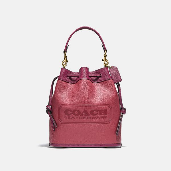Bolsa Field Bucket Coach Rosa